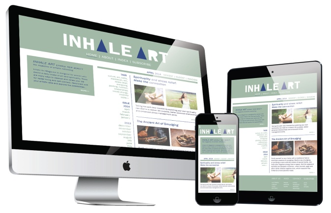 Inhale Art Responsive layouts