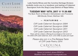 Carolina Cliff Lede 5x7 inv 4-17e