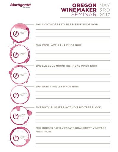Carolina Oregon Winemaker Seminar sheet 11x17 4-17